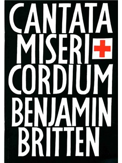 Benjamin Britten: Cantata Misericordium Op69 Books | Tenor, Baritone, SATB, Piano Accompaniment