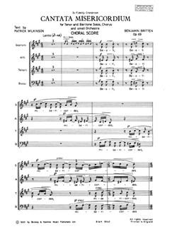 Cantata Misericordium Op69 Books   SATB
