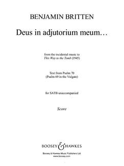 Benjamin Britten: Deus In Adjutorium Meum Books | SATB