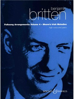 Benjamin Britten: Folksong Arrangements 4 Books | Voice, Piano Accompaniment