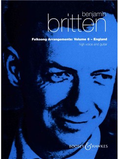 Benjamin Britten: Folksong Arrangements 6 Books | Voice, Guitar