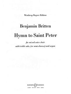 Benjamin Britten: Hymn To St Peter Op.56 (Vocal Score) Books | SATB, Organ Accompaniment