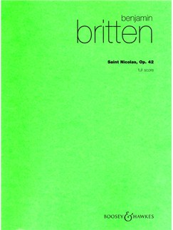 Benjamin Britten: Saint Nicolas Op.42 (Hawkes Pocket Score) Books | Tenor, SATB, String Ensemble, Piano Duet, Percussion, Organ