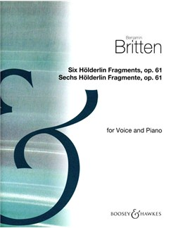 6 Holderlin Fragments Books | High Voice, Piano Accompaniment