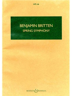 Benjamin Britten: Spring Symphony Op.44 Books | Orchestra