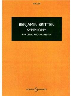 Benjamin Britten: Symphony For Cello And Orchestra Op. 68 (Cello And Piano Reduction) Books | Cello, Piano Accompaniment
