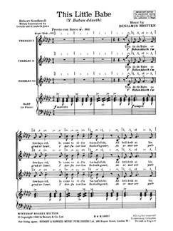 Benjamin Britten: This Little Babe (TTT) Books | Treble (Trio), Harp (Trio), Piano Accompaniment (Trio)