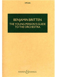 Benjamin Britten: The Young Person's Guide To The Orchestra (Study Score) Books | Orchestra