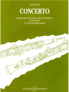 Domenico Cimarosa: Concerto For Oboe And Piano Books | Clarinet or Oboe, Piano Accompaniment