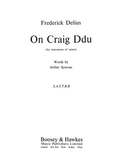 Frederick Delius: On Craig Ddu Books | SATTBB, Piano Accompaniment