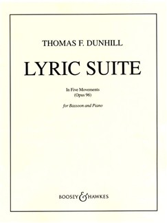 Thomas Dunhill: Lyric Suite In Five Movements Op.96 Books | Bassoon, Piano Accompaniment