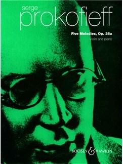 Serge Prokofiev:  5 Melodies Op.35a Books | Violin, Piano Accompaniment