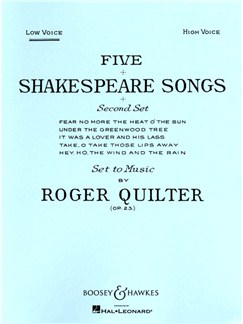 Roger Quilter: Five Shakespeare Songs (Low Voice) Books | Low Voice, Piano Accompaniment