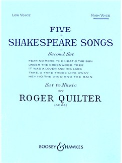 Roger Quilter: Five Shakespeare Songs Op. 23 - Second Set Books | High Voice, Piano Accompaniment