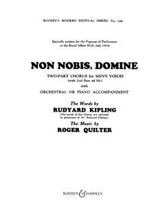 Roger Quilter: Non Nobis Domine (TB/Piano) Books | TB, Piano Accompaniment