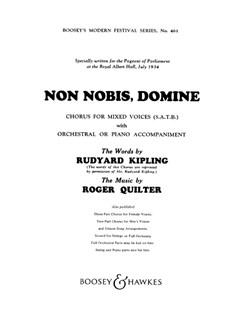 Roger Quilter: Non Nobis Domine (SATB) Books | SATB, Piano Accompaniment
