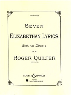 Roger Quilter: Seven Elizabethan Lyrics Op.12 (High Voice) Books | High Voice, Piano Accompaniment