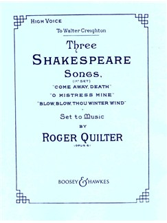 Roger Quilter: Three Shakespeare Songs For High Voice Books | High Voice, Piano Accompaniment