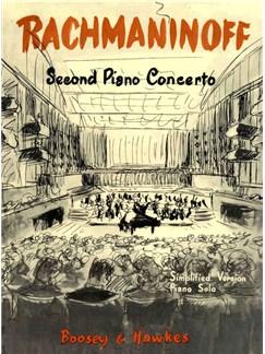 Sergei Rachmaninov: Second Piano Concerto (Simplified Version) Piano Solo Bog | Klaver solo