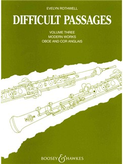 Evelyn Rothwell: Difficult Passages Volume Three Books | Oboe