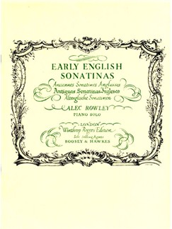 Early English Sonatinas Books | Piano