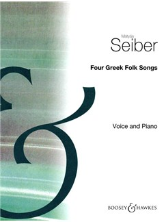 Matyas Seiber: 4 Greek Folksongs Books | Voice, Piano Accompaniment