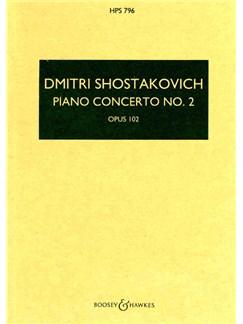 Dmitri Shostakovich: Piano Concerto No.2 Op.102 - Study Score Books | Piano, Orchestra