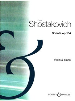 Dmitri Shostakovich: Violin Sonata Op.134 Books | Violin, Piano Accompaniment