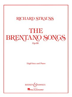 Richard Strauss: The Brentano Songs Op.68 Books | High Voice, Piano Accompaniment