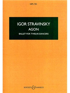 Igor Stravinsky: Agon Books | Score