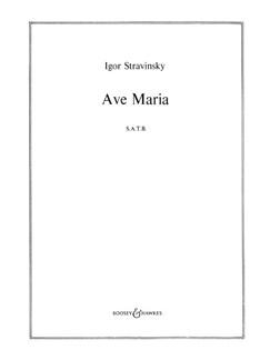Igor Stravinsky: Ave Maria Books | SATB