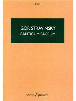 Igor Stravinsky: Canticum Sacrum Books | Orchestra