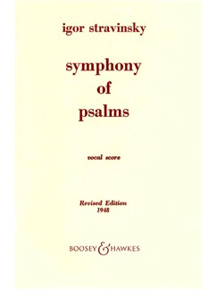 Igor Stravinsky: Symphony Of Psalms Books | SATB, Piano Accompaniment