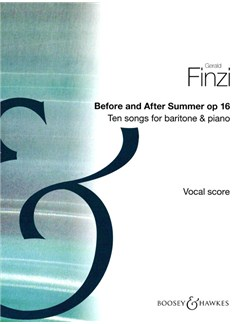 Gerald Finzi: Before And After Summer Books | Voice, Piano Accompaniment