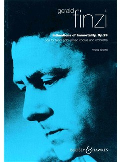 Gerald Finzi: Intimations Of Immortality Op.29 (Vocal Score) Books | Tenor Solo, SATB, Piano Accompaniment