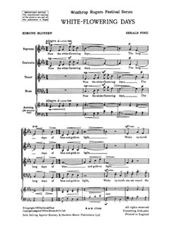 Gerald Finzi: White-Flowering Days Books | SATB