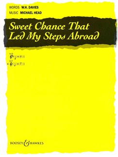 Michael Head: Sweet Chance That Led My Steps High Key F Books | High Voice, Voice