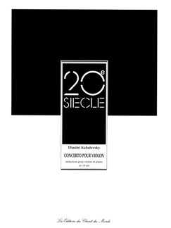 Dmitri Kabalevsky: Violin Concerto Op.48 Books | Violin, Piano Accompaniment