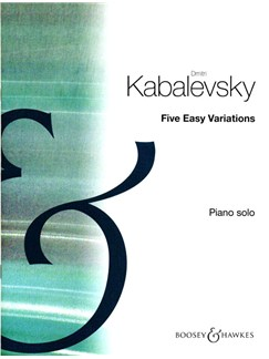 Dmitri Kabalevsky: Five Easy Variations Op.51 Books | Piano