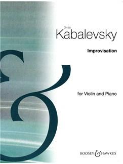 Dmitri Kabalevsky: Improvisation Op.21 No.1 Books   Violin, Piano Accompaniment