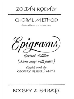 Epigrams Books | Voice, Piano Accompaniment