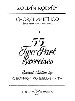 Zoltan Kodaly: 55 2-Part Exercises Books | 2-Part Choir