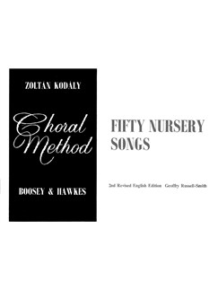 Zoltan Kodaly: Fifty Nursery Songs Books | Unison Voice