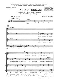 Laudes Organi Books | SATB