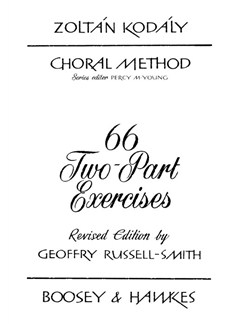 Zoltan Kodaly: 66 Two-Part Exercises Books | 2-Part Choir
