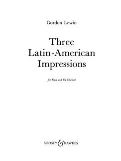3 Latin American Impressions Books | Clarinet, Flute