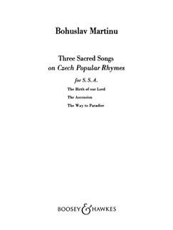 Bohuslav Martinu: Three Sacred Songs On Czech Rhymes Books | SSA, Violin
