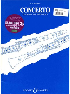 W.A. Mozart: Clarinet Concerto In A K.622 (Clarinet In A/Piano) (Boosey And Hawkes) Books | Clarinet In A, Piano Accompaniment