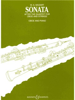 W.A. Mozart: Sonata After The Quartet For Oboe And Strings Books   Oboe, Piano Accompaniment