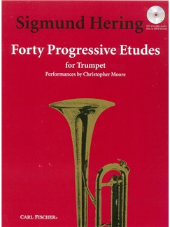 Sigmund Hering: 40 Progressive Etudes (Trumpet Solo) CD et Livre | Trompette